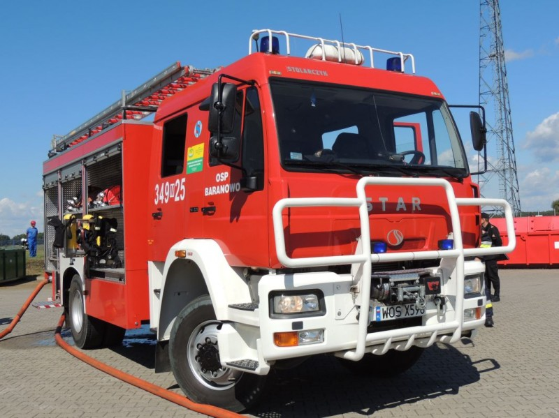 Ćwiczenia strażaków w Baranowie / epowiatostrolecki.pl