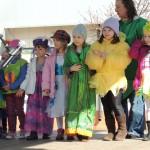 Powitanie wiosny przez przedszkolaków.