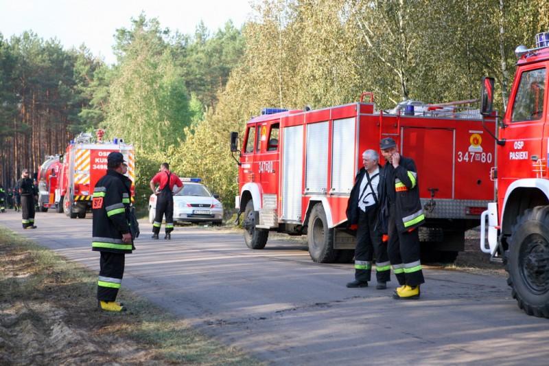 Pożar w Glebie / epowiatostrolecki.pl