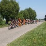 Wyścig kolarski przez gminę Lelis