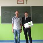 Ufundowanie nagrody dla ucznia w Baranowie