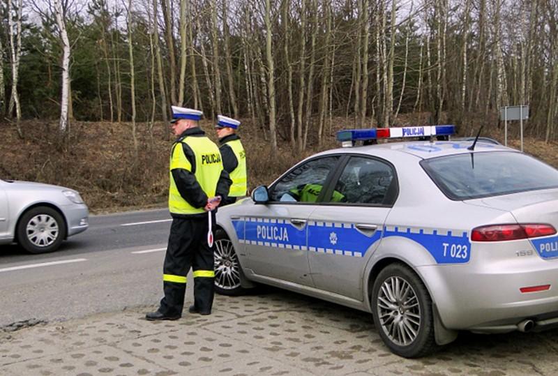 policja, kontrol drogowa, Ostrołęka, KMP w Ostrołęce